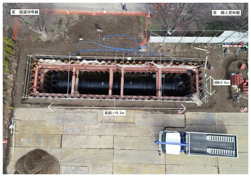 写真:緊急貯水槽設置工事写真(2)